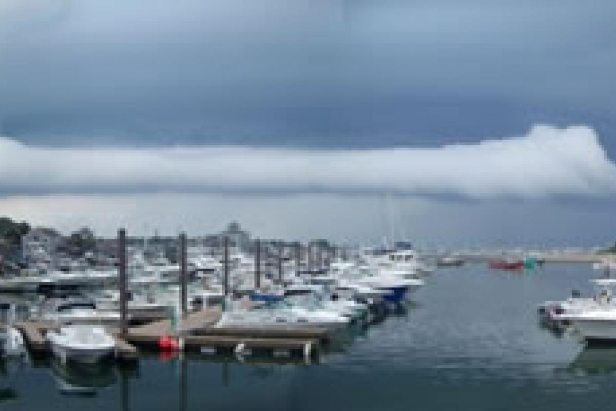 """""""Approaching Storm"""" Scituate Harbor, photo by Jill A. Buckley"""