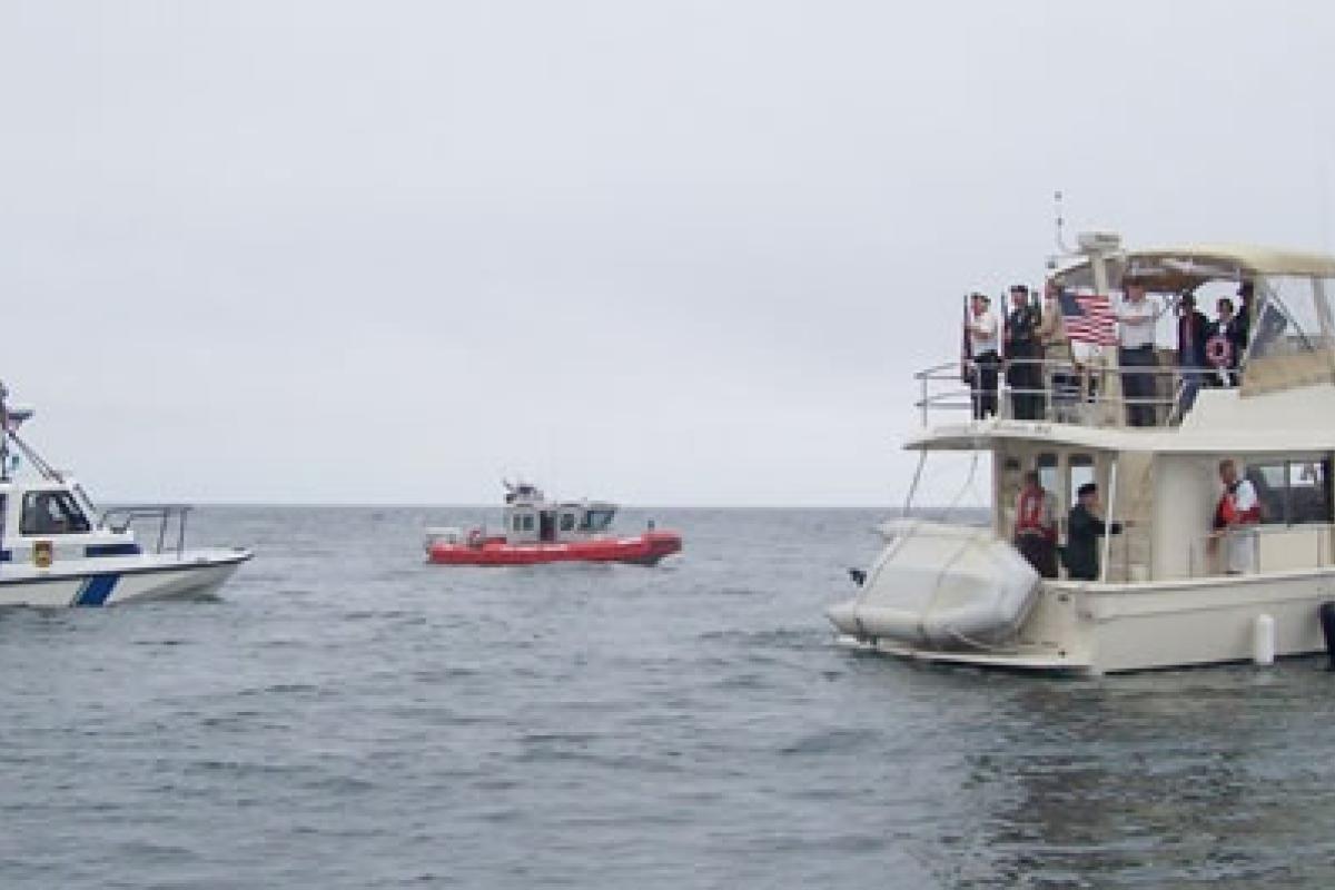 Memorial Day Gun Salute – Harbormaster's Crew, U. S. Coast Guard and private cit