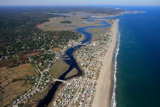 Aerial View of Humarock Beach